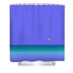 Colors Of Water Shower Curtain by Val Arie