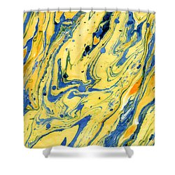 Colors On The Lake Shower Curtain