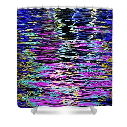 Shower Curtain featuring the photograph Colors On Water by Erin Kohlenberg