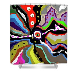 Colors Revised Shower Curtain