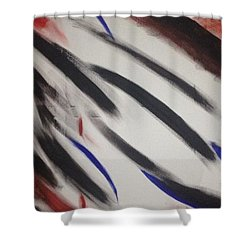 Abstract Colors Shower Curtain by Sheila Mcdonald