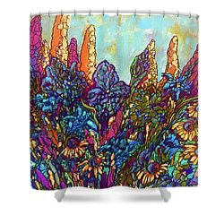 Colorwild Shower Curtain by Rae Chichilnitsky