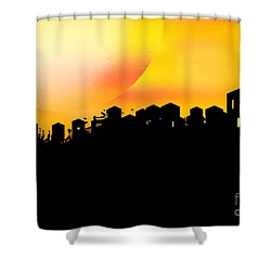 Colossal Ending Shower Curtain by Shelley Jones