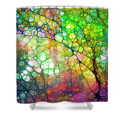 Colour Combustion Shower Curtain