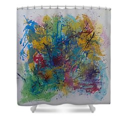 Colour Fusion Shower Curtain by Judi Goodwin