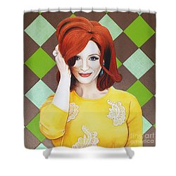 Shower Curtain featuring the painting Colour Inspired Beauty by Malinda Prudhomme