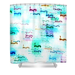 Colour Light Abstraction Invert Shower Curtain
