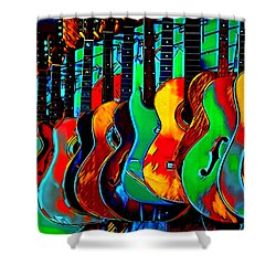 Shower Curtain featuring the digital art Colour Of Music by Pennie McCracken