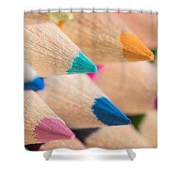Colour Pencils 3 Shower Curtain