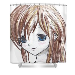 Coloured Anime Shower Curtain