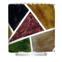 Coloured Glass Shower Curtain