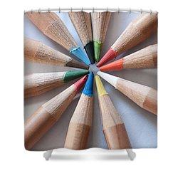 Coloured Pencils 2 Shower Curtain