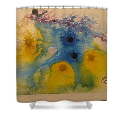 Shower Curtain featuring the drawing Colourful by AJ Brown