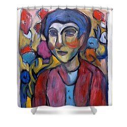 Colourful Contemple Shower Curtain
