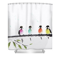 Colourful Family Shower Curtain