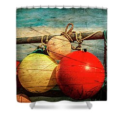 Colourful Fenders In A Distressed State. Shower Curtain by Paul Cullen