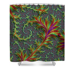 Colourful Fronds Shower Curtain