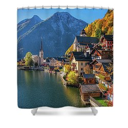 Colourful Hallstatt Shower Curtain