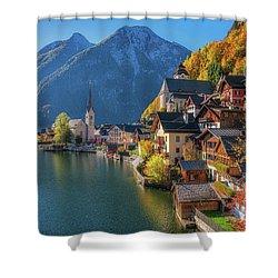 Colourful Hallstatt Shower Curtain