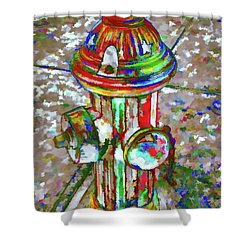Colourful Hydrant Shower Curtain