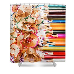 Colourful Leftovers Shower Curtain