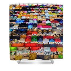 Colourful Night Market Shower Curtain