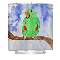 Female Parrot Shower Curtain