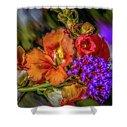 Shower Curtain featuring the mixed media Colourful Pb #h8 by Leif Sohlman