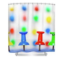Colourful Pins. Shower Curtain