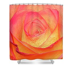 Colourful Rosie Shower Curtain by Roy McPeak