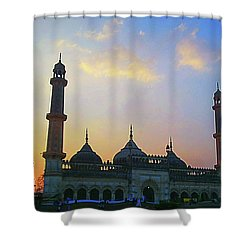 Colourful Sunset At Monument Shower Curtain