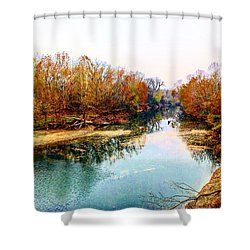 Colours Along Mill Creek Shower Curtain