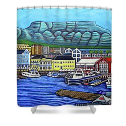 Colours Of Cape Town Shower Curtain by Lisa Lorenz