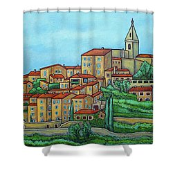 Colours Of Crillon-le-brave, Provence Shower Curtain by Lisa Lorenz