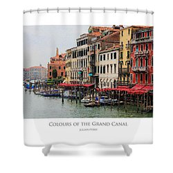Colours Of The Grand Canal Shower Curtain