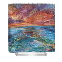 Colours Of The Sea 8 Shower Curtain
