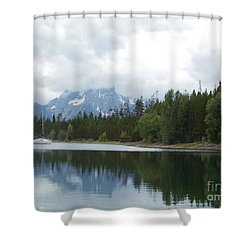 Shower Curtain featuring the photograph Colter Bay by Charles Robinson