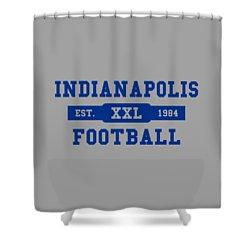 Colts Retro Shirt Shower Curtain
