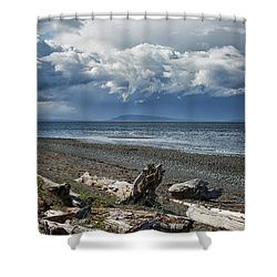 Columbia Beach Shower Curtain by Randy Hall