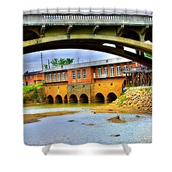 Columbia Canal At Gervais Street Bridge Shower Curtain