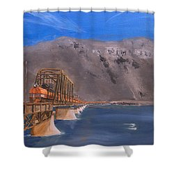 Columbia Crossing Shower Curtain by Christopher Jenkins