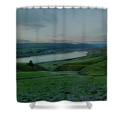 Shower Curtain featuring the photograph Columbia Gorge In Early Spring by Jeff Swan