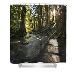 Columbia Gorge Sunrise Shower Curtain