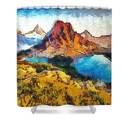 Columbia Lake Reverie Shower Curtain by Mario Carini