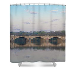 Shower Curtain featuring the photograph Columbia Railroad Bridge - Philadelphia by Bill Cannon