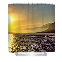 Columbia River 001 Shower Curtain by Scott McAllister