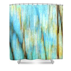 Columbia River Abstract Shower Curtain by Theresa Tahara