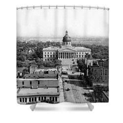 Columbia South Carolina - State Capitol Building - C 1905 Shower Curtain by International  Images
