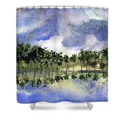 Columbian Shoreline Shower Curtain by Randy Sprout