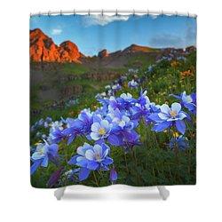Columbine Sunrise Shower Curtain